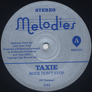 Taxie / Rock Don't Stop back