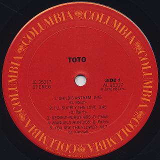 Toto / S.T. label