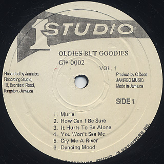 V.A. / Oldies But Goodies Vol.1 label