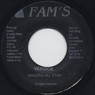 Wailers Band / Cobra Style back
