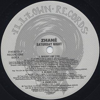 Zhane / Saturday Night label
