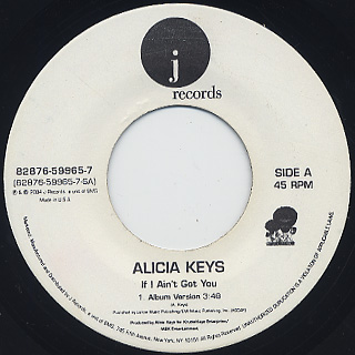 Alicia Keys / If I Ain't Got You c/w Daiary front