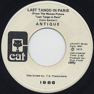 Antique / Last Tango In Paris back