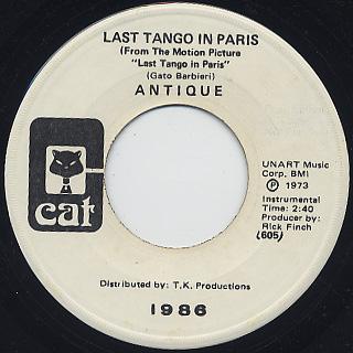 Antique / Last Tango In Paris back