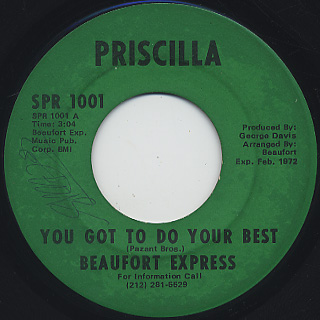 Beaufort Express / You Got To Do Your Best