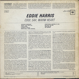 Eddie Harris / Cool Sax Warm Heart back