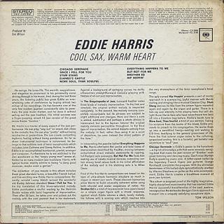 Eddie Harris / Cool Sax Warm Heart back