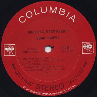 Eddie Harris / Cool Sax Warm Heart label