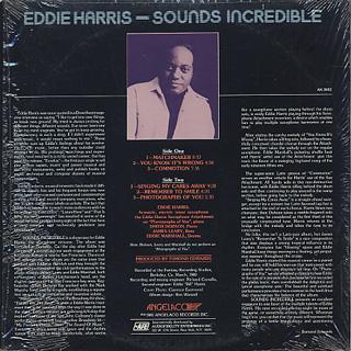 Eddie Harris / Sounds Incredible back