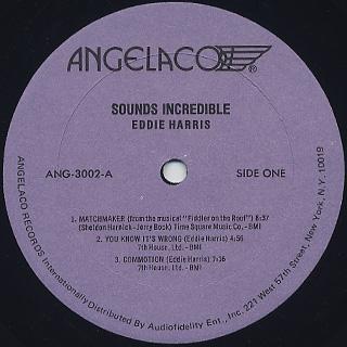 Eddie Harris / Sounds Incredible label