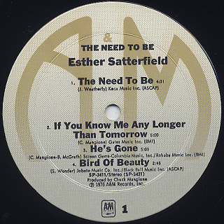 Esther Satterfield / The Need To Be label