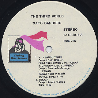 Gato Barbieri / The Third World label