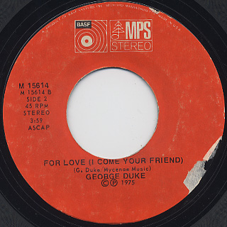 George  Duke / Fools c/w For Love back