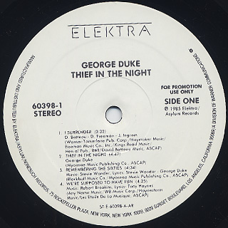 George Duke / Thief In The Night label
