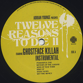 Ghostface Killah, Adrian Younge / Twelve Reasons To Die II(Instrumental) label