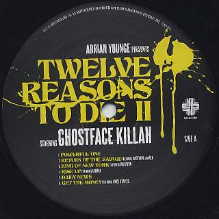 Ghostface Killah / Twelve Reasons To Die II label