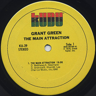 Grant Green / The Main Attraction label