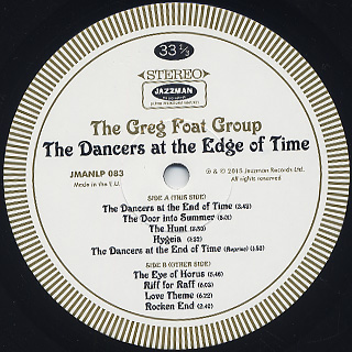 Greg Foat Group / The Dancers At The Edge Of Time label