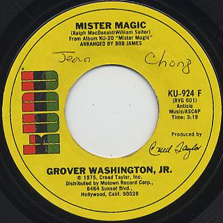 Grover Washington, Jr. / Mister Magic c/w Black Frost