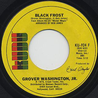 Grover Washington, Jr. / Mister Magic c/w Black Frost back