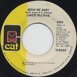 Gwen McCrae / Move Me Baby front