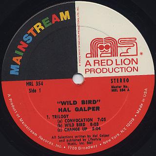 Hal Galper / Wild Bird label