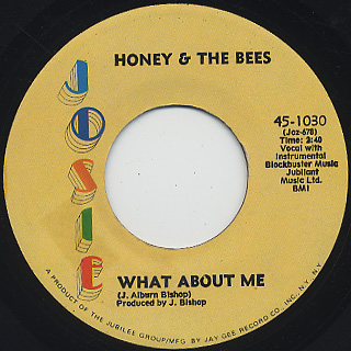 Honey & The Bees / It's Gonna Take A Miracle c/w What About Me back