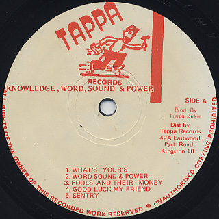 Knowledge / Words Sounds & Power label