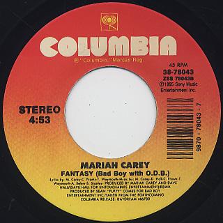 Mariah Carey / Fantasy c/w Fantasy (Bad Boy With O.D.B.)