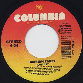 Mariah Carey / Fantasy c/w Fantasy (Bad Boy With O.D.B.) back