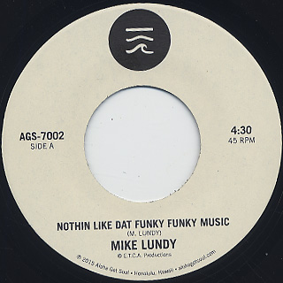Mike Lundy / Nothin Like Dat Funky Music back