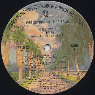 Osibisa / Osibirock label
