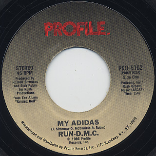 Run D.M.C. / My Adidas c/w Peter Piper