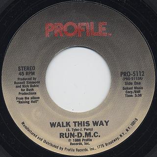 Run D.M.C. / Walk This Way label