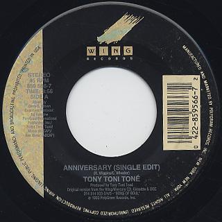 Tony Toni Tone / Anniversary (45)