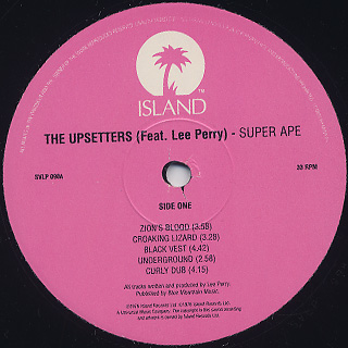 Upsetters / Super Ape label
