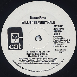 Willie Beaver Hale / Beaver Fever label