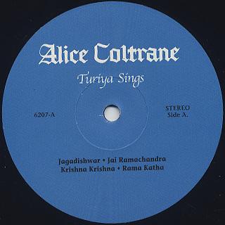 Alice Coltrane / Turiya Sings label