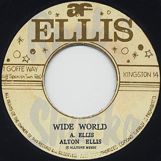 Alton Ellis / Wide World c/w Dedication