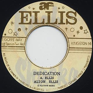 Alton Ellis / Wide World c/w Dedication back