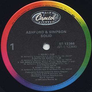 Ashford & Simpson / Solid label