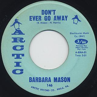 Barbara Mason / I'm No Good For You c/w Don't Ever Go Away back