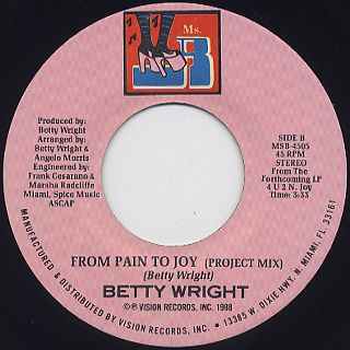 Betty Wright / From Pain To Joy back
