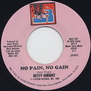 Betty Wright / No Pain, No Gain back