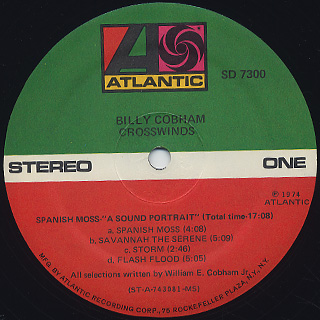 Billy Cobham / Crosswind label