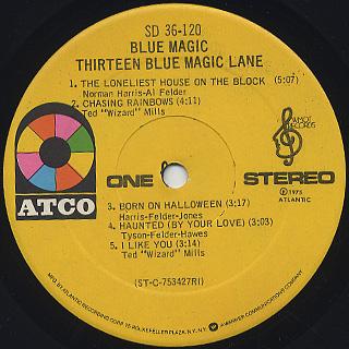 Blue Magic / Thirteen Blue Magic Lane label
