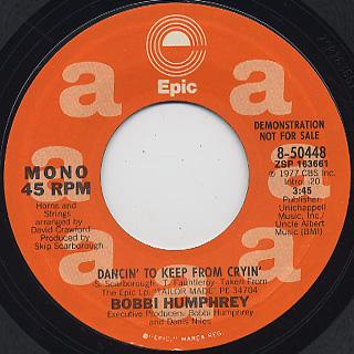 Bobbi Humphrey / Dancin' To Keep From Cryin' back