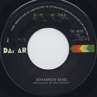 Bohannon / Stop and Go c/w Save Their Soul