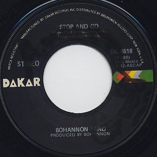 Bohannon / Stop and Go c/w Save Their Soul back
