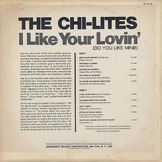 Chi-Lites / I Like Your Lovin' (Do You Like Mine) back